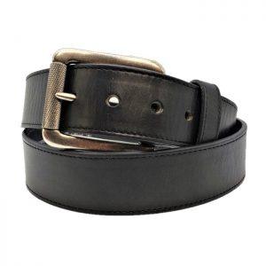 Belt Men's Black Latigo Leather Strap