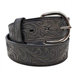 Black Scroll Belt