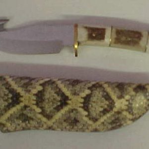 8.5 in guthook with genuine rattlesnake sheath