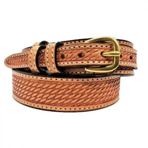 Handmade Ranger Belt Embossed Basket Stamp