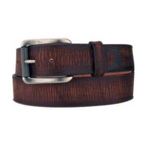 Belt Men's Brown Latigo Leather Strap and Keeper