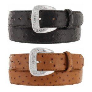 Belt Mens Ostrich Leather Belt. Made in U.S.A.