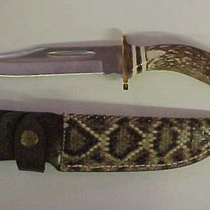 Genuine Rattlesnake Sheath 10 in. Knife