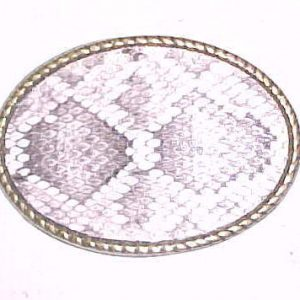 Genuine Rattlesnake Belt Buckle