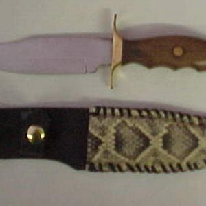hand laced 10 in genuine rattlesnake sheath