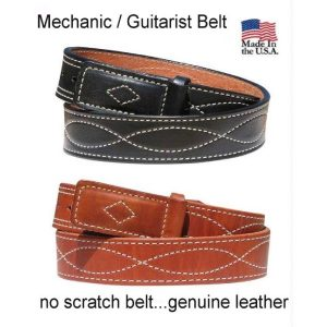 Handmade Figure 8 Stitched Leather MechanicsGuitarist Belt