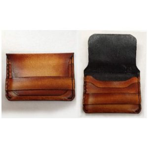 "Handmade Wallet Leather Card Holder ""Walter Mitty"""