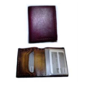 Handmade Wallet Super Soft Vertical Leather Oxblood Billfold