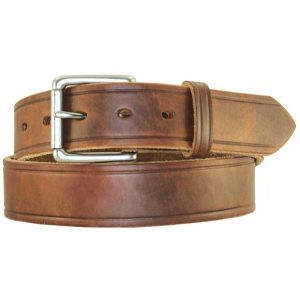 Handmade Waxed Heavy Med. Brown Leather Belt High Quality Work/Casual Belt