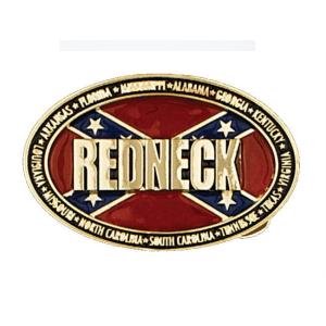 Belt Buckle Confederate Flag Redneck