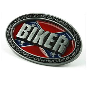 Belt Buckle Confederate Flag Biker