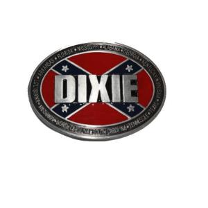 Belt Buckle Confederate Flag Dixie