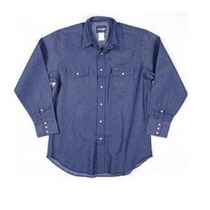Denim Shirt heavy weight denim snap shirt great for Welding