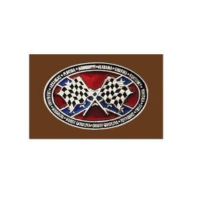 Belt Buckle Confederate States Checkered Flag