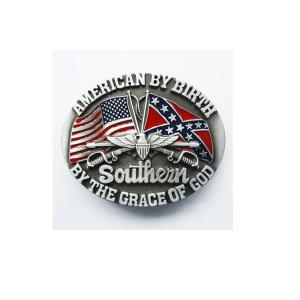 Belt Buckle Confederate American By Birth