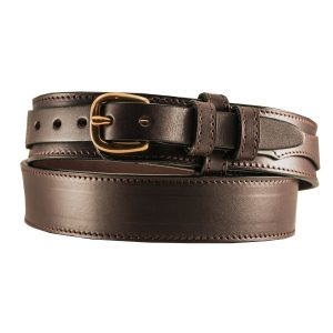 Ranger Belt Handmade Leather Dark Brown