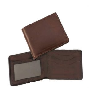 Wallet Handmade Classic with ID Window Brown
