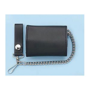 Wallet Biker wallet tri fold with chain