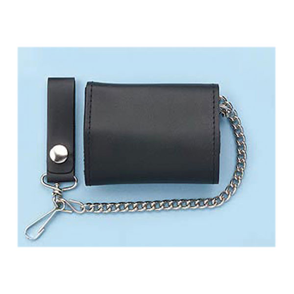 Wallet Biker wallet tri fold with chain