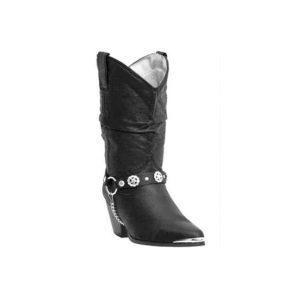 Dancer Boot Dingo Black Pigskin w/ Strap