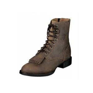 Ariat Riding Boots Lace-up Roper Distressed Brown