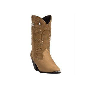 Dancer Boot Dingo Chestnut Pigskin w/Studded Top