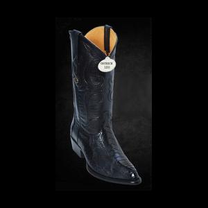 Genuine Ostrich Leg Boots Black Cherry by Los Altos