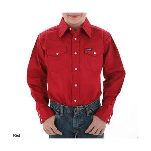 Western Heavy Red Denim Shirt Wrugged Wrangler