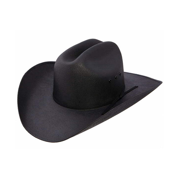 """One Size Fits Most Resistol """"Cantrell"""" blk canvas straw hat"""
