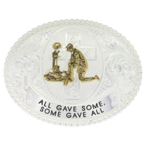 Montana Silversmiths All Gave Some, Some Gave All Western Belt Buckle