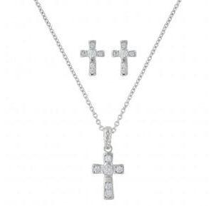 Montana Silversmiths A Mark of Faith Cross Jewelry Set
