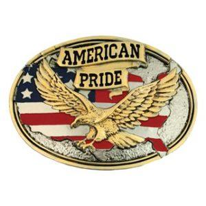 Montana Silversmiths American Pride Attitude Belt Buckle