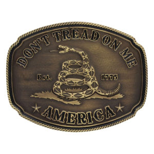 American Gadsden Don't Tread on MeMontana Silversmiths Heritage Attitude Buckle