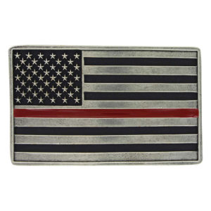Montana Silversmiths Stand Behind the Red Line Attitude Buckle
