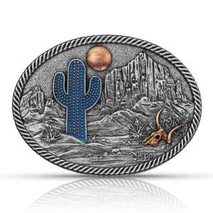 Montana Silversmiths Desert Moon Cactus Attitude Buckle