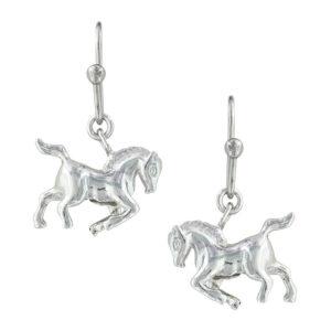 Montana Silversmiths Prancing Horse Earrings