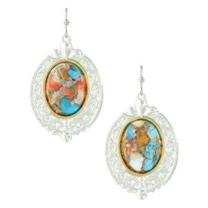 Montana Silversmiths Sweet Memories Mountain Glacier Turquoise Earrings