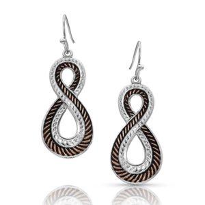 Montana Silversmiths Rose Gold Hope Rope Earrings