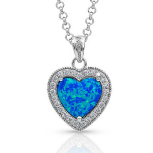 Montana Silversmiths River of Lights Heart Stone Necklace