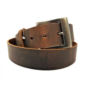 Handmade Distressed Brown Leather Casual Belt