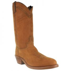Made in USA Abilene Tan Cowhide Round Toe