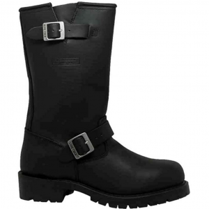 Ad-Tec Round Toe Engineer Biker Boot