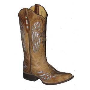Cowtown Tan with Silver Winged Cross