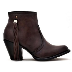 Los Altos Chocolate Round Toe with Tassel Ankle Boot
