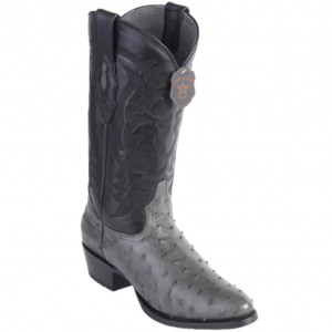 Los Altos Full Quill Ostrich Grey