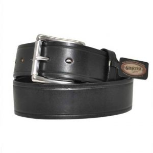 "Handmade 1 3/4"" Leather Belt in Black"