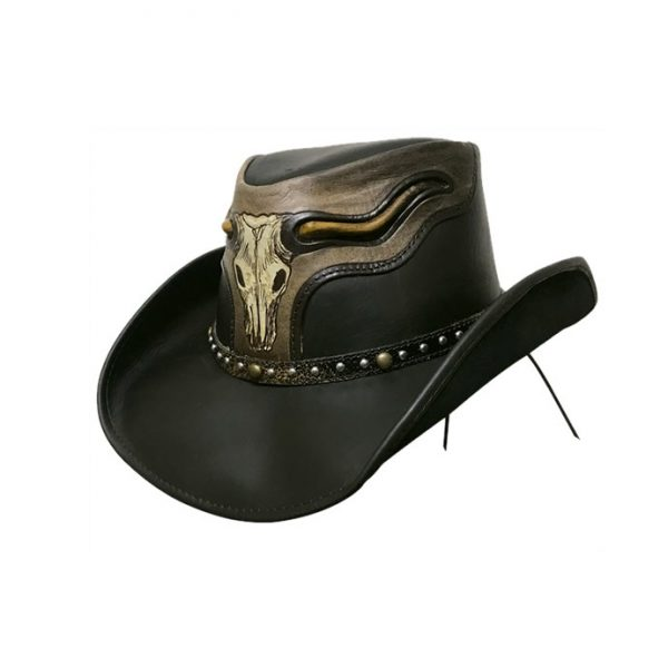 Dallas Hats The Steer in Black Leather