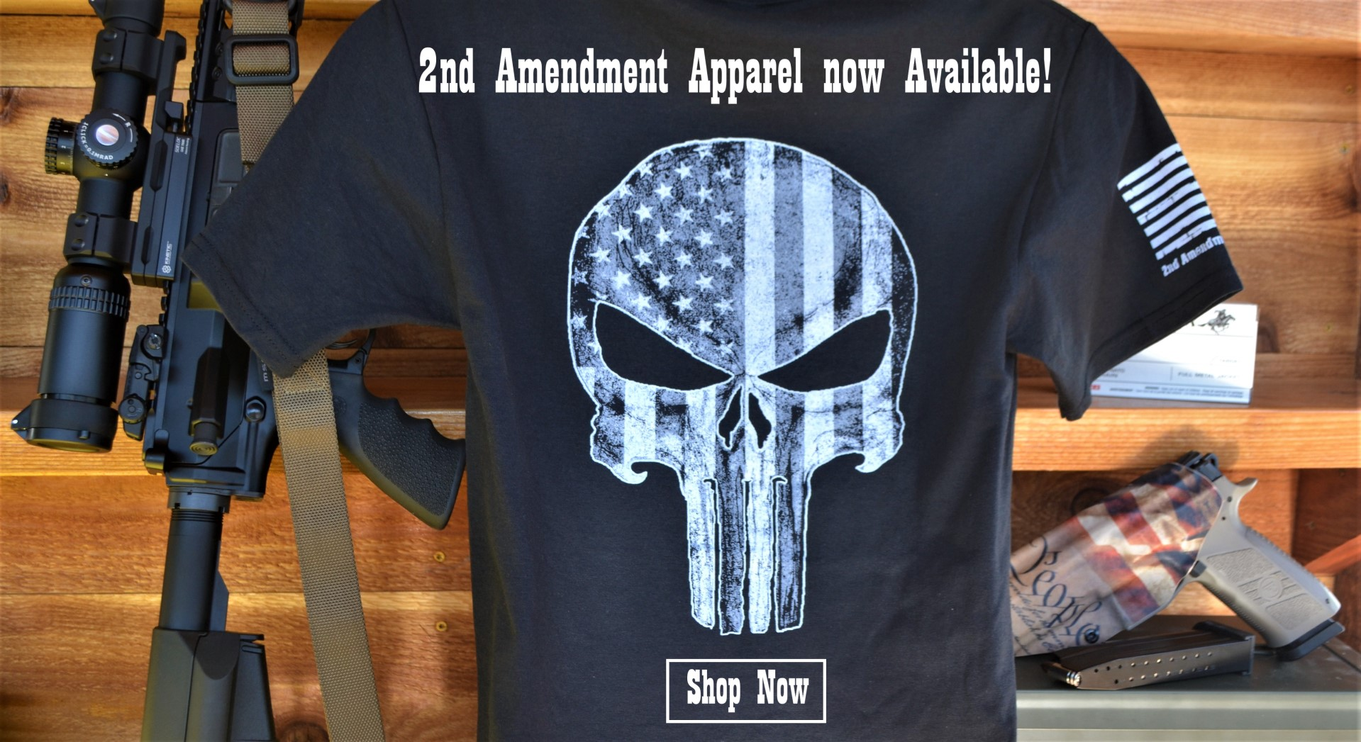 2nd Amendment Apparel Homepage Banner