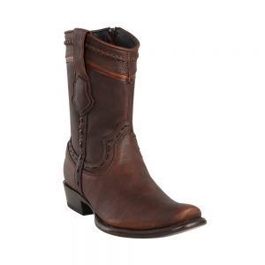 Men's King Exotic Zip-up Leather Boots