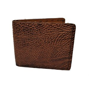 Handmade Wallet Genuine Shark in Brown